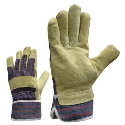 Кожаные перчатки (свиная кожа), комбинированные предназначены для защиты...
